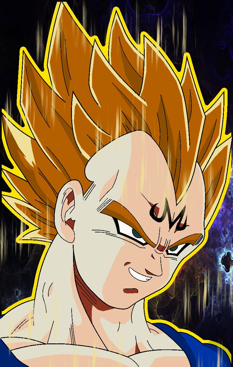 Majin Vegeta Vs SSj2 Goku By Tp1mde