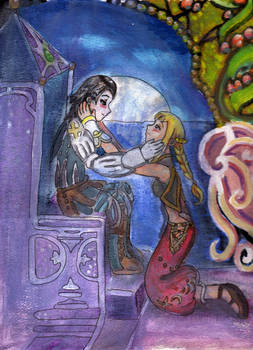 Larsa and Penelo: moonlight