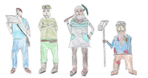 A Quartet of Badly-Drawn self-insert OCs. by generalurist