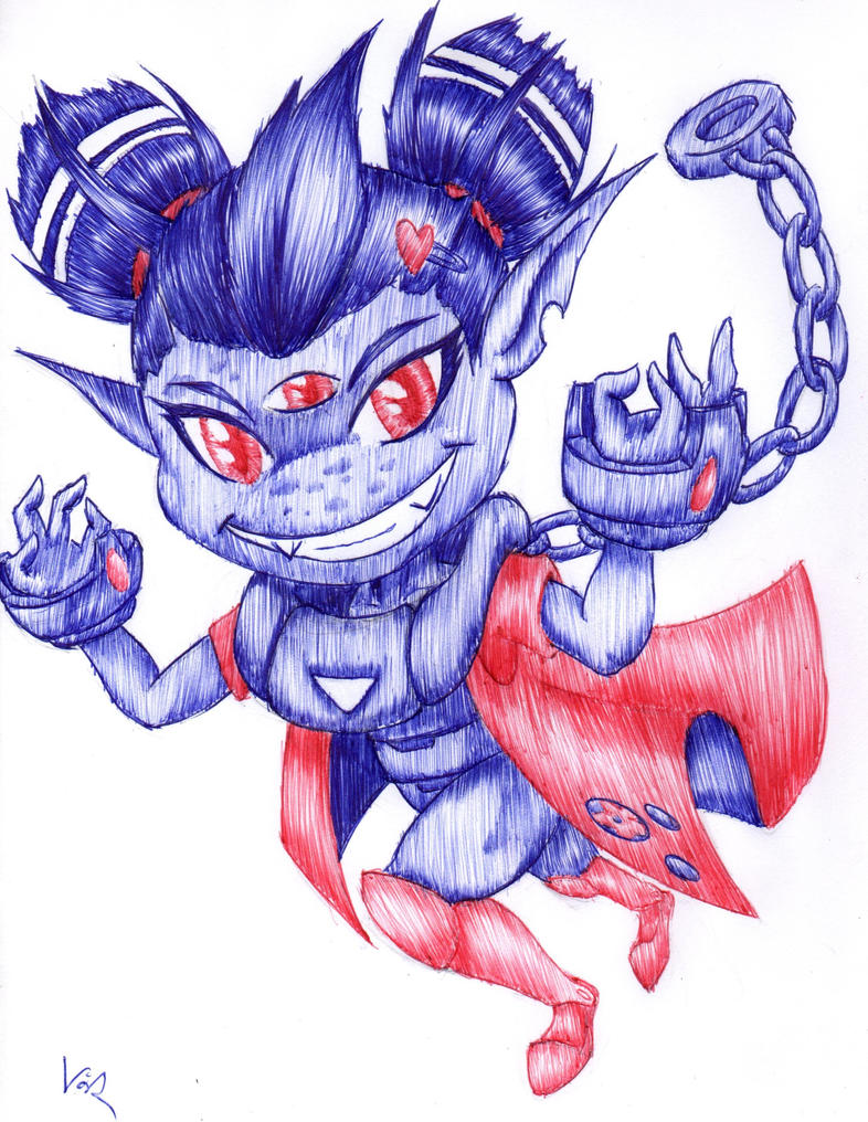 Ayla with ballpoint pen by varijani