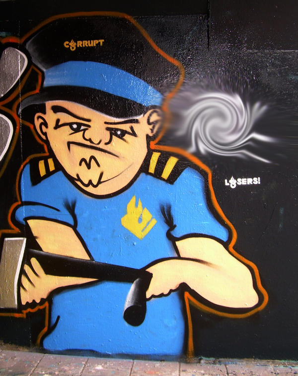 Character Design Opleiding : Cop character graffiti by graff writer on deviantart