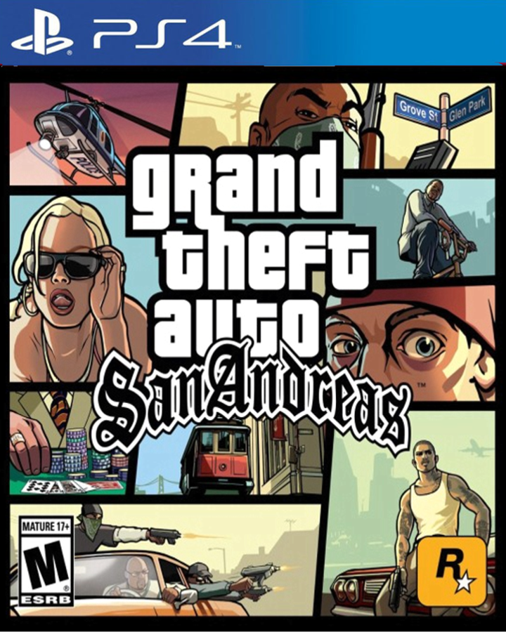 grand theft auto san andreas ps4 cover by edwardmorris99. Black Bedroom Furniture Sets. Home Design Ideas
