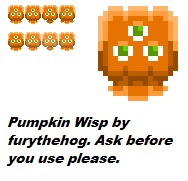 Pumpkin Imprint Wisp by furythehog