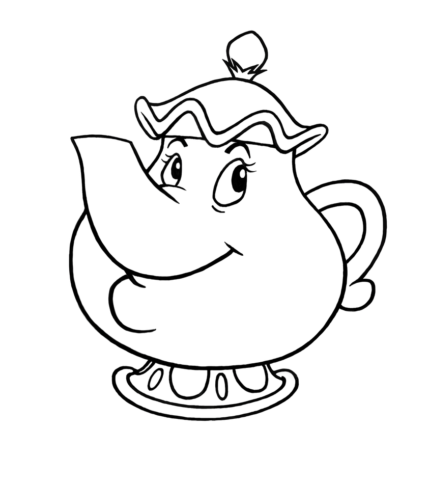 chip and mrs potts coloring pages | Mrs. Potts by DeathKnightCommander on DeviantArt