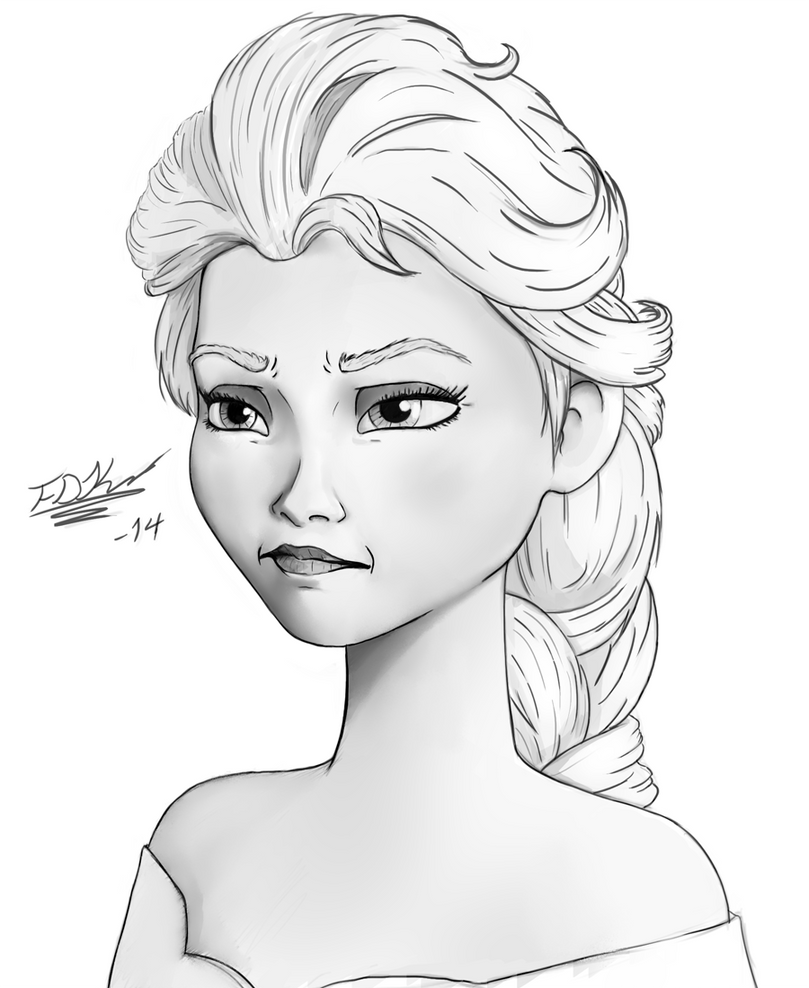 Displaying 20> Images For - Elsa Drawing...