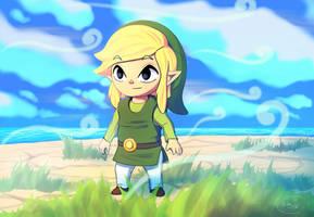 Link, The Wind Waker by DeathKnightCommander