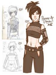 Fan art sketch - Ayame