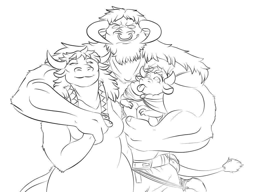 Family Portrait (WIP) by Dartori