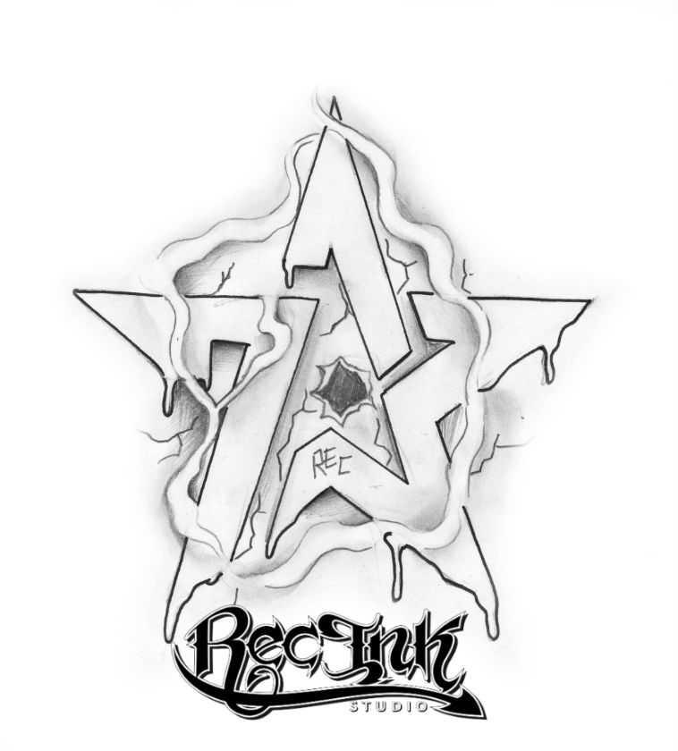H Town Tattoo Idea REC 713 Sketch By TXREC