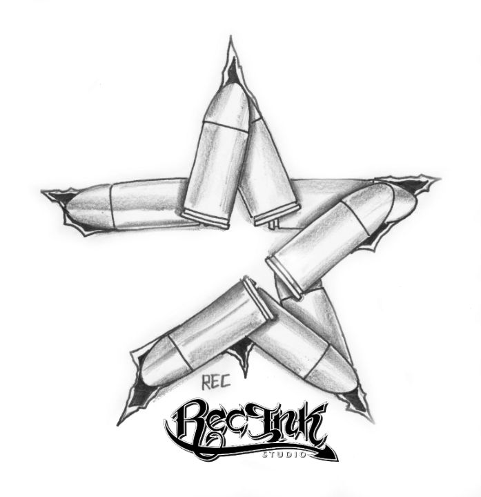 H town tattoo astros bullet style by txrec on deviantart for Bullet tattoo designs