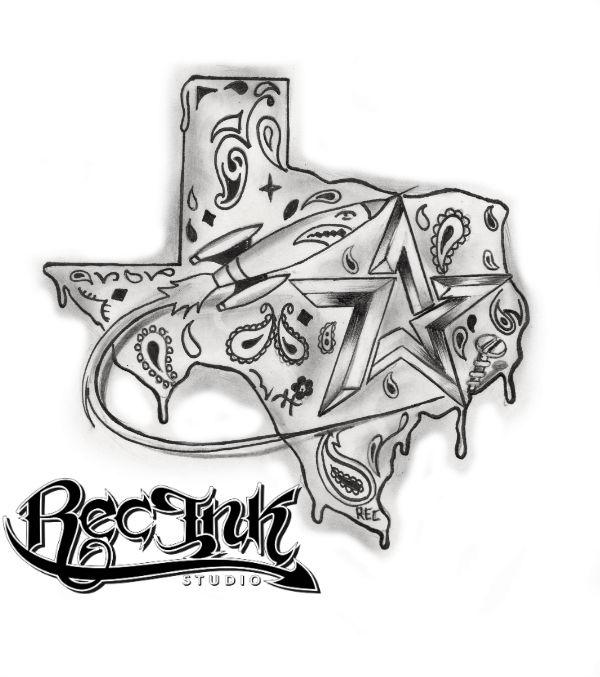 Texas Made H Town Tattoo713 Screwston By TXREC