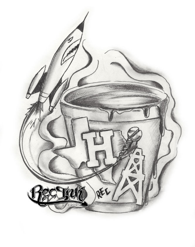 H Town Tattoo713Hustletown Screwston HTX By TXREC