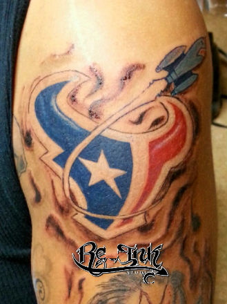 texans tattoo by rec h town tattoo by txrec on deviantart. Black Bedroom Furniture Sets. Home Design Ideas