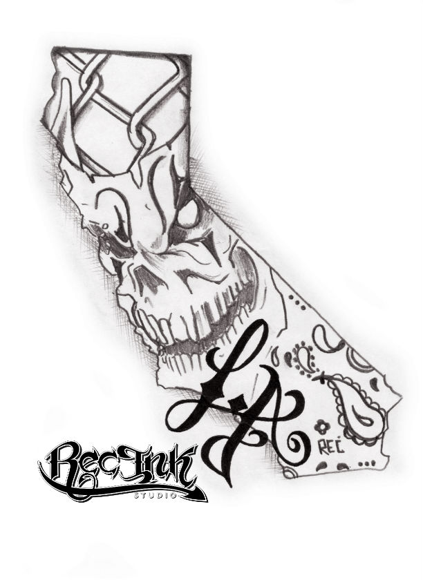 L a tattoo los angeles tattoo california by txrec on for Designers art of california