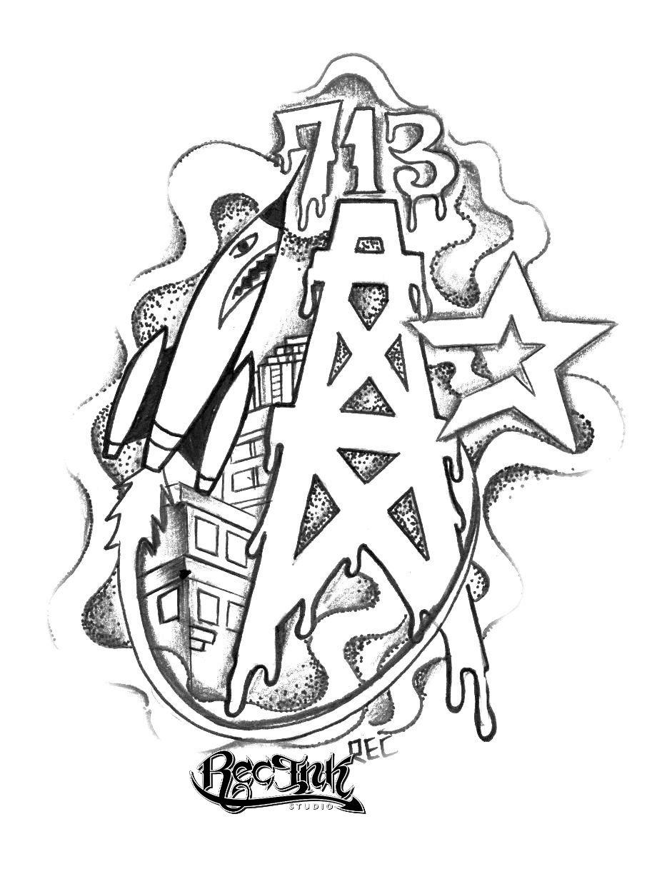 Tattoo, Htown tattoos , Jose AKA REC by TXREC on DeviantArt