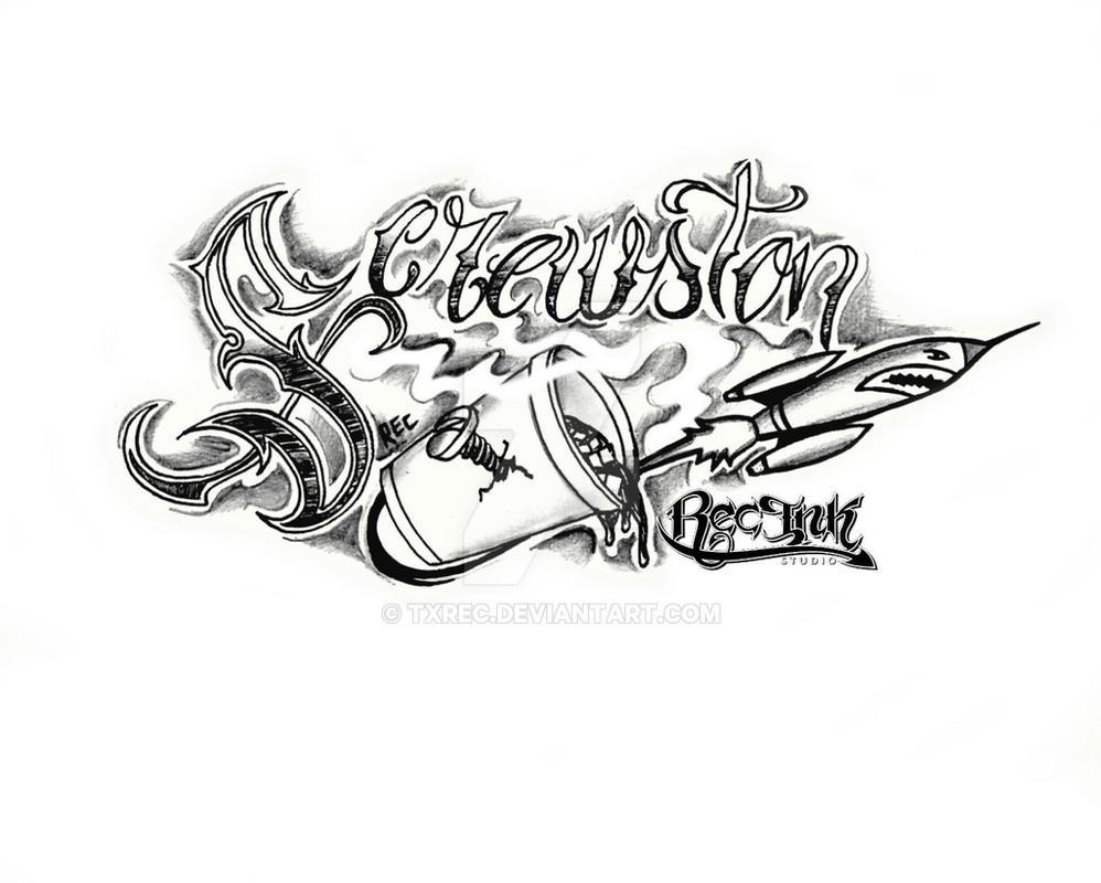 Screwston Htown Tattoo Jose Hernandez Aka REC By TXREC