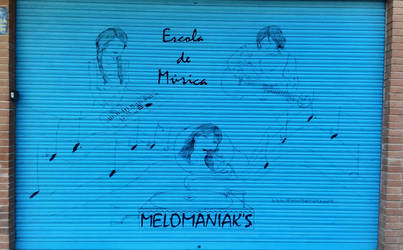 Melomaniak's music school drawing by mochueloscuro