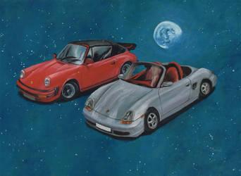 Porsches by mochueloscuro