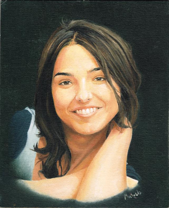 Cristina Brondo Colour Portrait by mochueloscuro