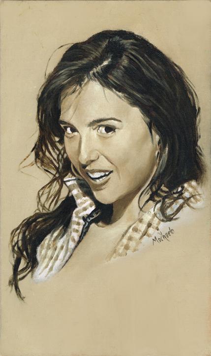 Cristina Brondo Sepia Colour Portrait by mochueloscuro