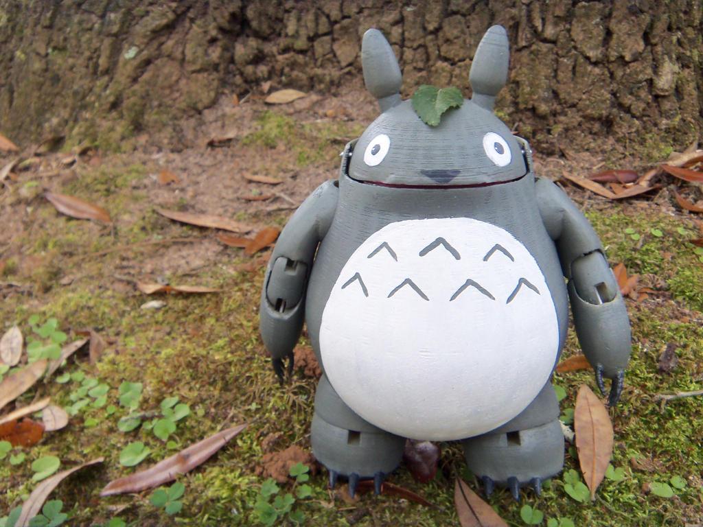 BJD  3D printed Totoro by golgotha00