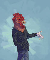 Rooster [sketch-trade] by KyleSoul