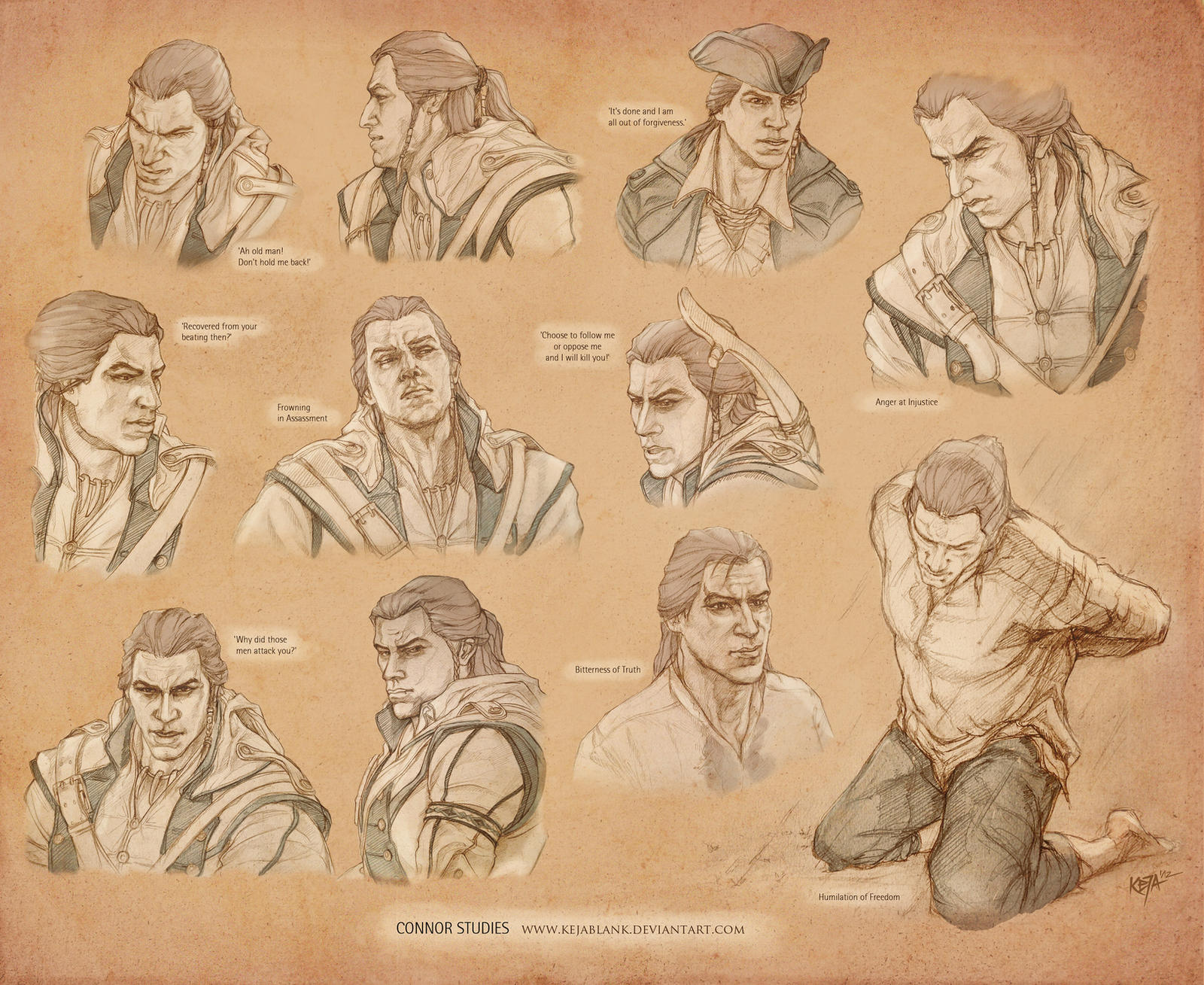 Connor Kenway Studies by KejaBlank