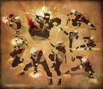 Sketchdump 03 - Fighting Kakashi