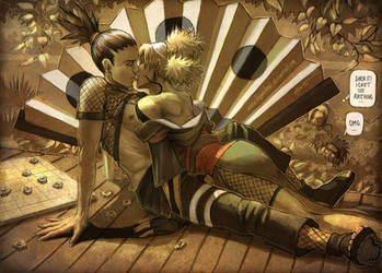 Shikamaru Temari - Shadow kiss by KejaBlank