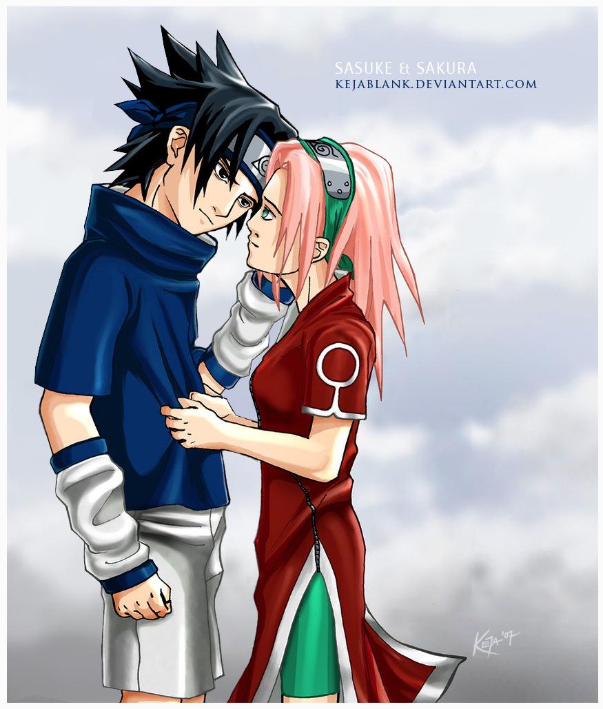 Sasuke and Sakura by KejaBlank