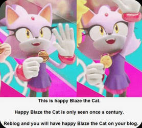 Happy Blaze The Cat