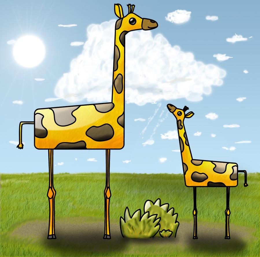 Two giraffes by Eetienne