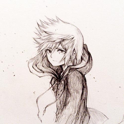 Sketch: Roxas by eumiii