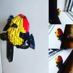 Wire-tailed manakin origami by marakiO