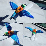 Lilac breasted roller origami  by marakiO