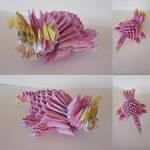 Galarian Slowpoke origami  by marakiO