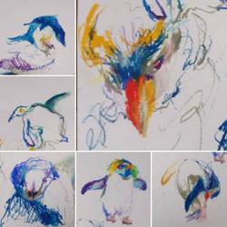 Penguins Sketches by marakiO
