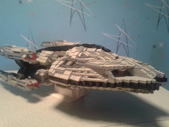 LEGO space battleship by TomXaros