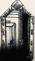 inktober the 28: A message on the glass