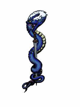 Linden serpent constricting a la tene sword