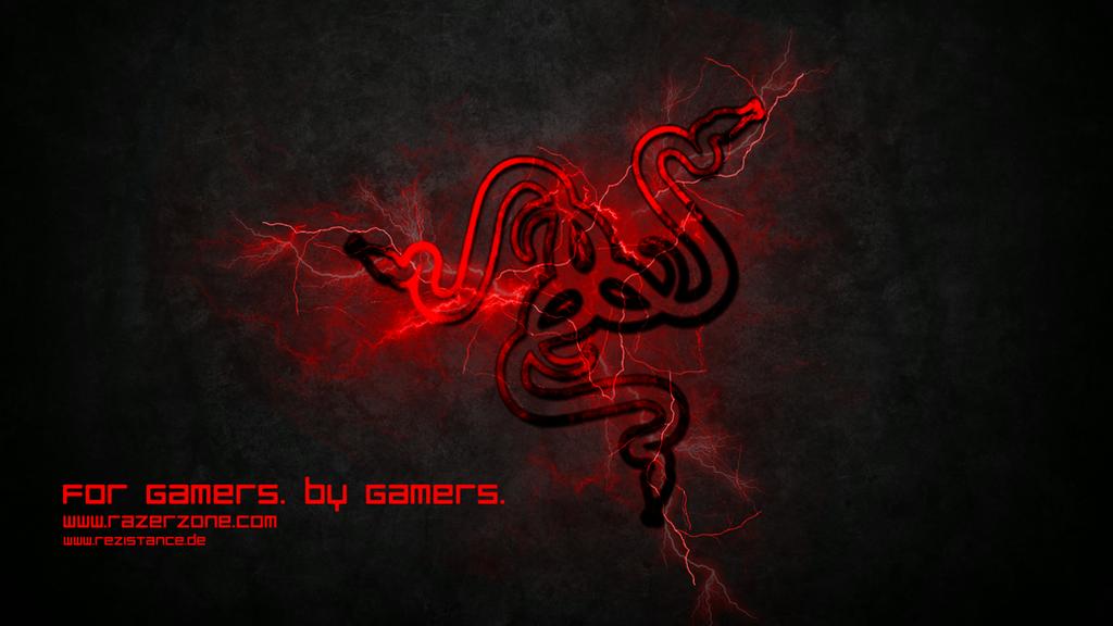 Razer red storm wallpaper by preyker on deviantart for Sfondi razer