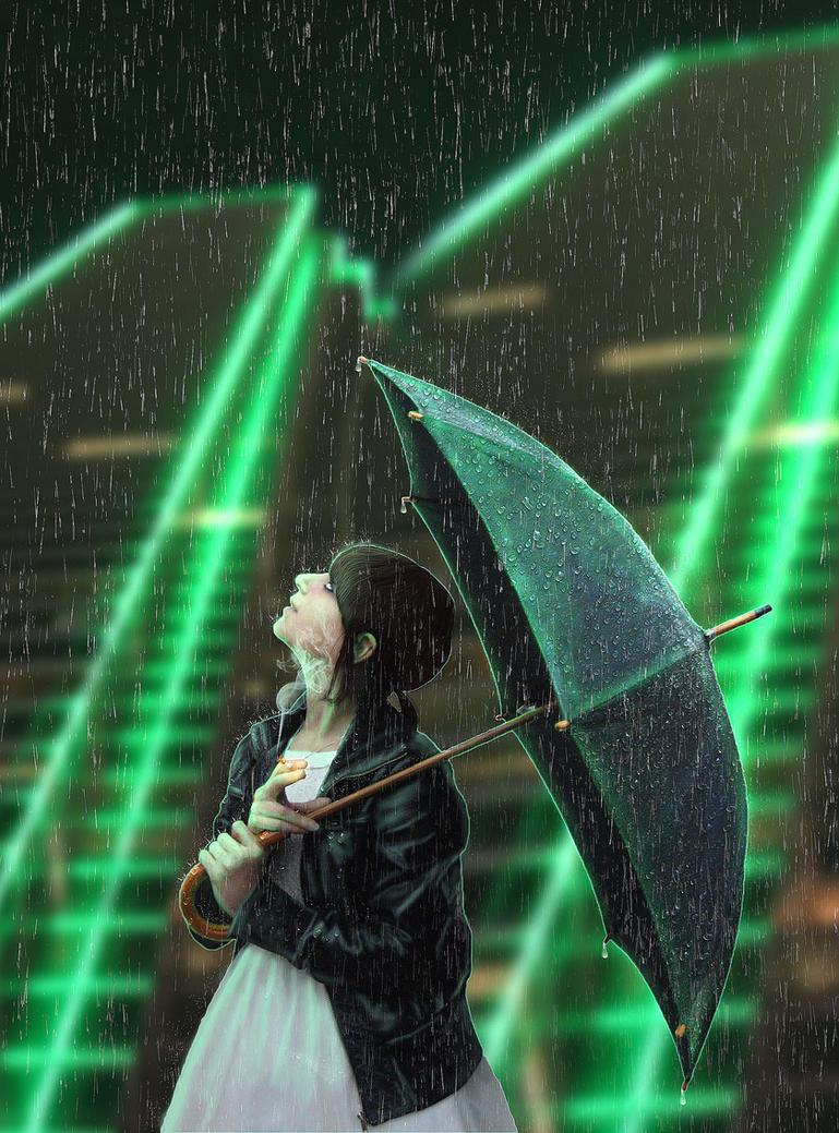 City rain by pankreas67
