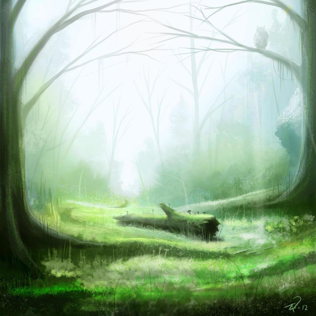 Forest glade speedpaint by Mattiasedstrom