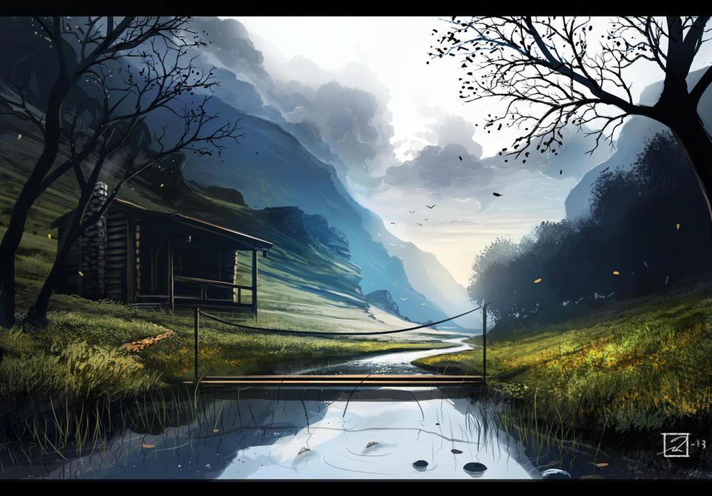 A Cabin In The Woods By Mattiasedstrom On Deviantart