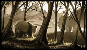 Panda on a journey by Mattiasedstrom