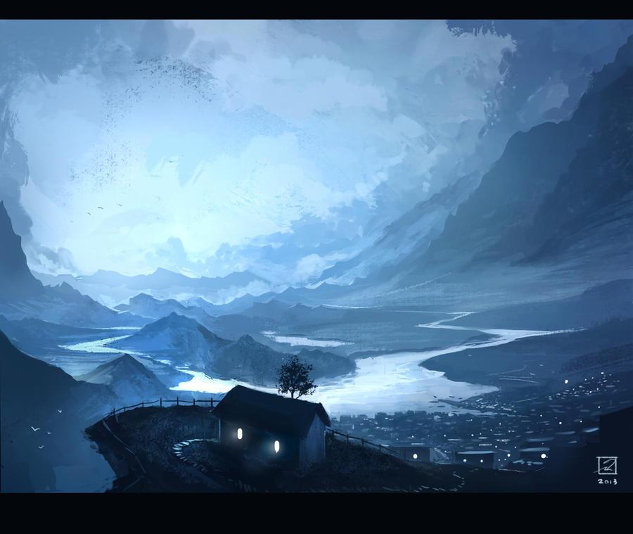 Blue valley by Mattiasedstrom