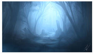 ruins in the mist by Mattiasedstrom