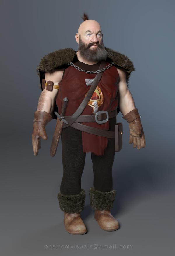 Dwarf Hunter wip by Mattiasedstrom