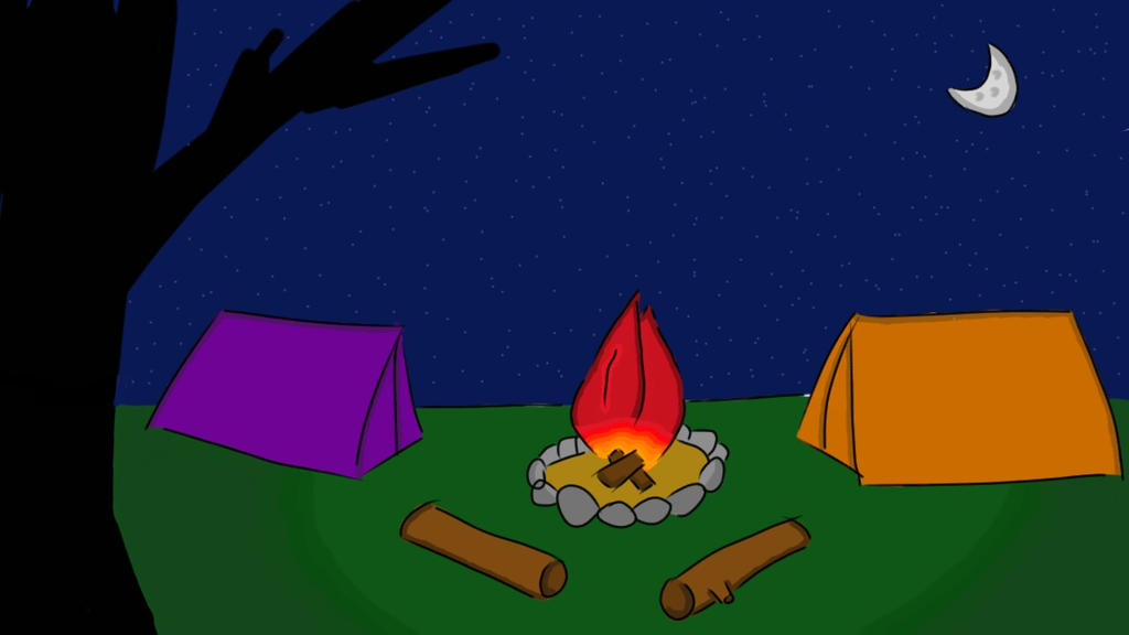 Campfire... by AnshiTheDragon