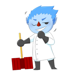 Boris chibied Animal Crossing style by bogm0nst3r